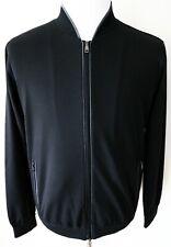 $1760 BRIONI Black Luxurious Lounge Jogging Tracksuit Bomber Jacket Size 3XL