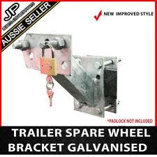 SPARE WHEEL BRACKET CARRIER HOLDER TYRE GALVANISED TRAILER PART CARAVAN BOAT