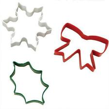 Holiday Christmas 3 pc Metal Cookie Cutter Set from Wilton  #0131 - NEW
