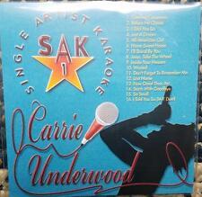CARRIE UNDERWOOD KARAOKE CDG DISC SAK SINGER ARTIST SERIES COUNTRY CD+G MUSIC CD