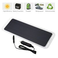 12V 5W Portable Solar Panel Power Battery Charger Backup For Car Boat Automobile