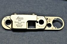 c1950-56 Vintage, NEW NOS CHROME TOP PLATE COVER for Leica IIIf Red / Black Dial