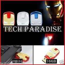 1x Clé USB 2.0 Iron Man Marvel 16Gb 16Go Flash Drive Memory Stick Pendrive Rouge