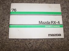 1976 Mazda RX-4 1.3L 1.8L Operator User Guide Owner Owner's Manual