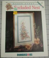 SECLUDED NEST  Dimensions Counted Cross Stitch Leaflet by Karen Avery #221