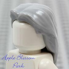 NEW Lego Long Light GRAY MINIFIG HAIR Dumbledore/Female Girl Minifigure Headgear