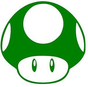 1UP Mario Brothers Mushroom Life Vinyl Decal Sticker Racing JDM Colors/Vary