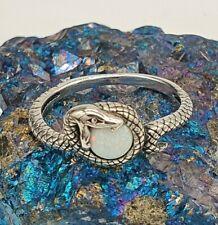 Opalite, Opal Snake Ring - Sterling Silver 925, Animal