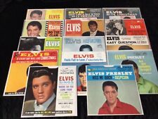 ELVIS PRESLEY 45 LOT OF 14 DIFFERENT 1960's 45's wi/ SLEEVES COLLECTION HI GRADE