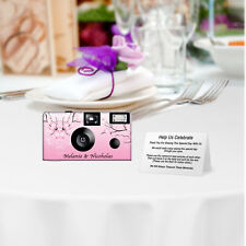 8 pack PERSONALIZED Cherry Blossoms Disposable Camera, wedding cameras, sweet 16