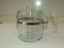 PYREX GLASS 6 CUP #7756 PERCOLATOR / COFFEE POT AND LID ONLY
