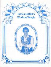 James LaDini's World of Magic , Bi-Fold Handout