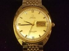 OMEGA  SEAMASTER COSMIC  BEADS OF RICE BAND  18k gp Date / Day