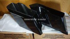 2014 2015 2016 VIVID BLACK HARLEY EXTENDED ABS 4 INCH SADDLEBAGS