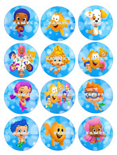 BUBBLE GUPPIES: Edible Cupcake Toppers  FREE SHIPPING in Canada