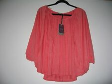 BHS - SOPHIE GRAY COLLECTION -Ladies batwing summer / top  - size 18 peach NWOT