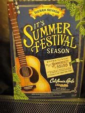 Sierra Nevada Brewing Co ~ Poster Print ~ Summer Festival Season ~ Craft Beer