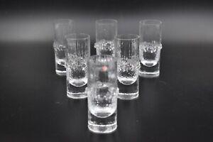 Boxed Set of 6 Iittala Niva Shot Liqueur Glasses by Tapio Wirkkala Finland 1960s