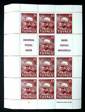 TUVALU Wholesale 1981 UPU $1 Sheetlet of 10 Cat £600 x10 Sheets SEE BELOW FP5757