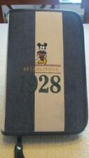 Disney Store Zippered Mickey Mouse Established 1928 Day Planner 6 X 9 Calendar