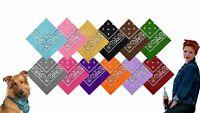 12-360Pcs Bandana New 100% Cotton Paisley Print Bandanna Scarf Handkerchief Lots