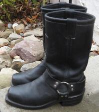 Chippewa 27868 Black Leather Harness Motorcycle Biker Boots Vibram Men's Sz 9 D