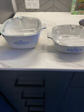 vintage corning ware blue cornflower set