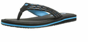 Skechers Sports Men Unify King Cobra Sandal Black Blue Color Gel Memory Foam Fun
