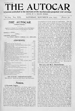 """The Autocar. 09/11/1907. """"The Autocars of 1908"""", etc. (About 500!!). PDF on USB"""