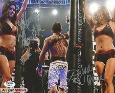 Patricio Pitbull Jade Bryce Mercedes Terrell Signed 8x10 Photo Psa/Dna Bellator