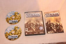 P CD Rom D-Day Computer Game CIB Complete Mint