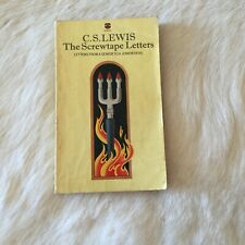 THE SCREWTAPE LETTERS by C.S. LEWIS 1977 DEVIL FIRE HELL ALICE IN WONDERLAND PB