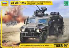 """ZVEZDA RUSSIAN ARMORED VEHICLE WITH """"ARBALET"""" """"TIGER-M"""" 1/35 Plastic model"""