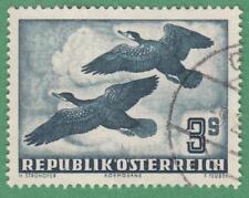 Austria #C57 used 3s Airmail Cormorant Birds 1953 cv $95