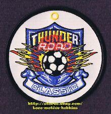 "PATCH Woven Badge  THUNDER ROAD SOCCER CLASSIC Tournament Football Futbol 3-1/2"""