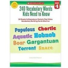 240 Vocabulary Words Kids Need to Know: Grade 4: 24 Ready-to-