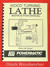 POWERMATIC 3520 Wood Lathe Operators Part Manual 0528