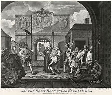 William Hogarth Print Reproduction: Roast Beef of Old England:  Fine Art Print