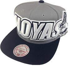 NCAA Georgetown Bulldogs Hoyas Mitchell and Ness Large Wordmark Cap Hat M&N RARE