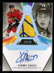 2019-20 Upper Deck THE CUP Trilaterals KIRBY DACH 10/13 Auto 2 Color Patch