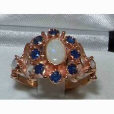 9ct Rose Gold Ladies Victorian Style Opal & Sapphire Ring