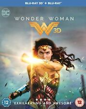 Wonder Woman 3D + 2D Blu-Ray with slipcover IMPORT BRAND NEW Free Shipping