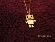 "Brand new Gold Plated Robot Necklace - Glamorous & Elegant Present 16"" Chain"