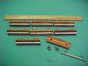 Set of 8 Vintage Art Deco Amber Butterscotch Bakelite Drawer Pulls Handles Knobs