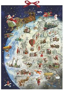 Giving Gifts on Christmas Eve Huge Advent Calendar 52 x 38 cm Coppenrath