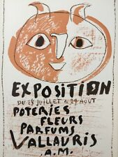 Pablo Picasso Poster,Tipped In, Offs.Lithograph,1971 Nr3, Exposition Poteries
