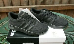Kids Adidas Lite Racer K Trainers Boys & Girls Black UK 12 Brand New And Boxed
