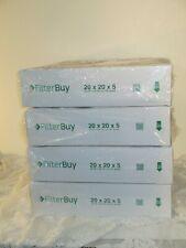 4 FilterBuy 20x20x5, Ac Furnace Air Filters Honeywell Lennox Merv 8 20 20 5