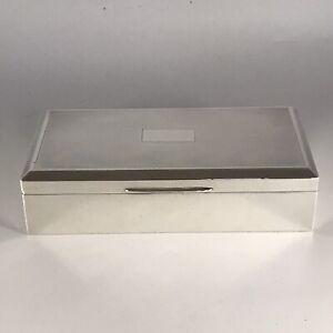 VINTAGE STERLING SILVER CIGARETTE BOX - JOHN ROSE - BIRMINGHAM 1964 - 406g