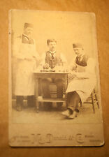 Rare 19th Century Photo Mounter Occupational Cabinet Card Early Denver Colorado